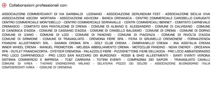Collaborazioni Agenzia Cinzia Miraglio eventi